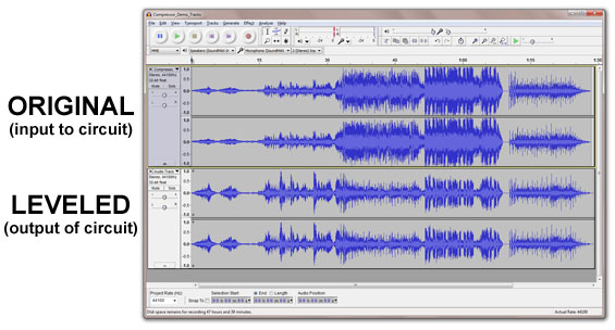 Audacity Demo Waveforms