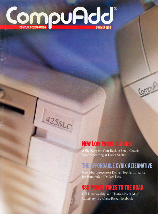 CompuAdd Magazine Cover - Summer 1992