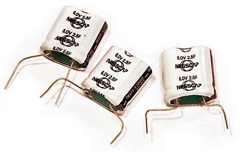 NessCap 5V, 2.5F Supercapacitors