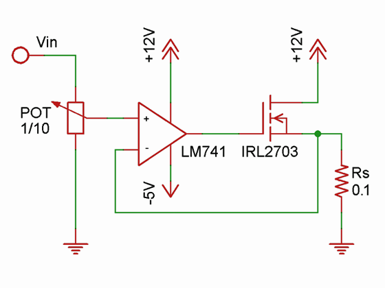 MOSFET Current Control Schematic