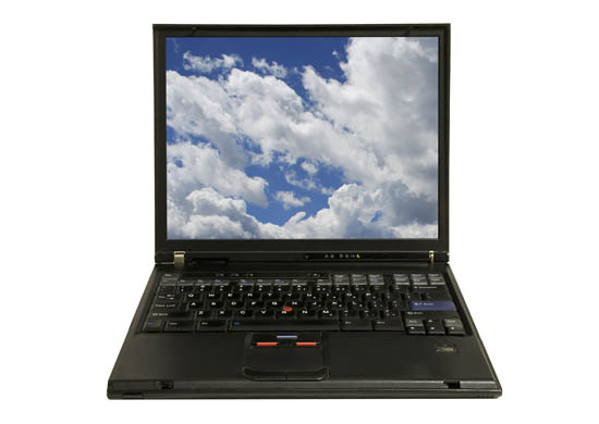My ThinkPad T43p - This is one of my stock images.  If you look closely, you'll see that the lappy is actually in standby, despite what you see on the screen.