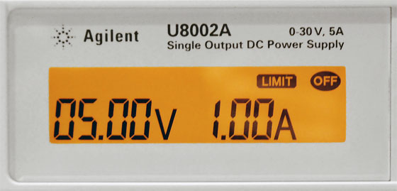 Agilent U8002A - Display Limits while Off