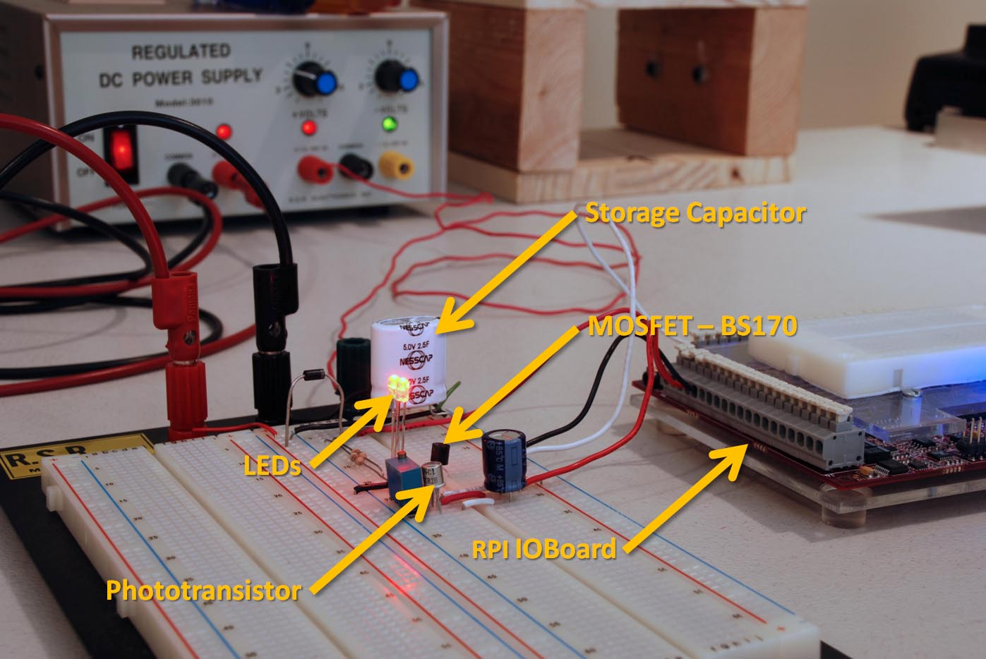 So You Want To Use Pwm Eh Non Lexical Vocables First I Connected 1 Supercap And The Led Resistor Into Circuit Heart Of This Test Is Fairly Simple Two Bright Red Leds Model Ovlbr4c7 Along With 92 Current Limiting Resistors Controlled By A Bs170